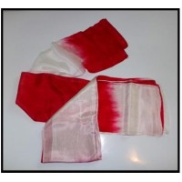 Red & White Silk Streamer